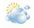 vereinzelt Wolken
